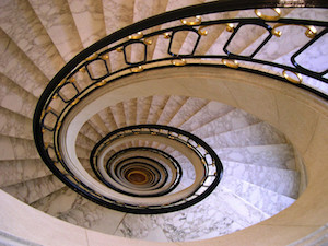 spiral-down-staircase